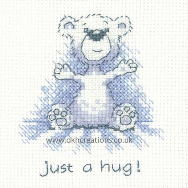 Peter Underhill Justin Just A Hug Greeting Card Cross Stitch Kit